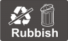 Recycling Sticker - Rubbish (Non-Recyclable)